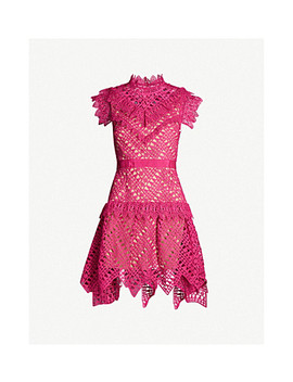 Abstract Triangle Lace Mini Dress by Self Portrait