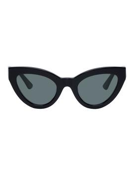 Black Cult Cat Eye Sunglasses by Mcq Alexander Mcqueen