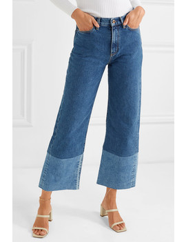 Cropped High Rise Wide Leg Jeans by Simon Miller