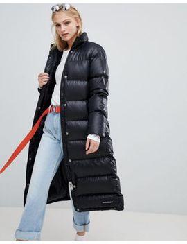 Calvin Klein Jeans – Lang Geschnittene, Wattierte Jacke by Asos