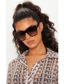 Tortoiseshell Oversized Square Sunglasses by Prettylittlething