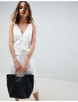 Платье без рукавов в стиле милитари Asos White by Asos