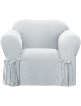 Farmhouse Basketweave Chair Slipcover   Sure Fit by Shop This Collection