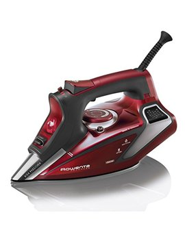 Rowenta 1800 Watt Professional Digital Led Display Steam Iron With Stainless Steel Soleplate, 400 Hole, Red, Dw9281 by Rowenta