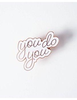 "You Do You Enamel Pin | 1 1/4"" Rose Gold Enamel Pin by Etsy"