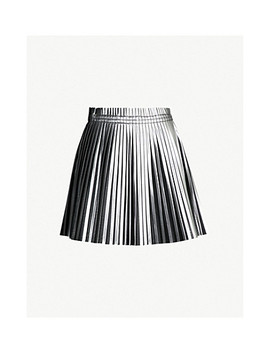 Pleated Metallic Skirt by Mm6 Maison Margiela
