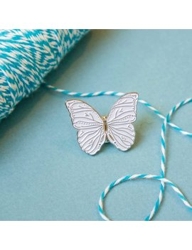 Butterfly Pin / White Butterfly Enamel Pin / Soft Enamel Pin / Butterfly Gift / Animal Pin / Schmetterling / Emaille Pin by Etsy