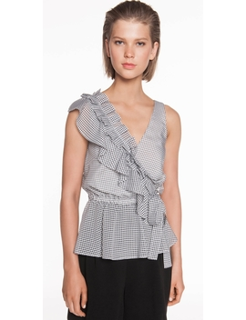 Mini Gingham Frilled Top by Cue