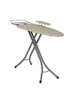 Household Essentials 971840 1 Wide Top 4 Leg Mega Ironing Board With Adjustable Height And Bonus Sleeve Board | Natural Cotton Cover by Household Essentials
