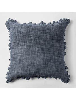 Chambray Euro Pillow Blue   Threshold™ by Threshold
