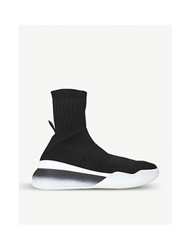 Loop High Top Stretch Knit Sneakers by Stella Mccartney