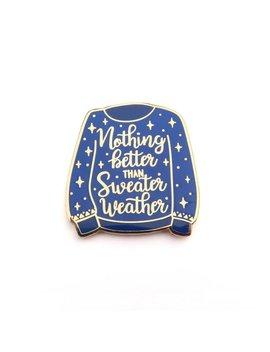 Dark Blue Nothing Better Than Sweater Weather Lapel Pin, Enamel Pin, Sweater, Autumn, Season, Gold Metal, Hard Enamel, Brooche by Etsy