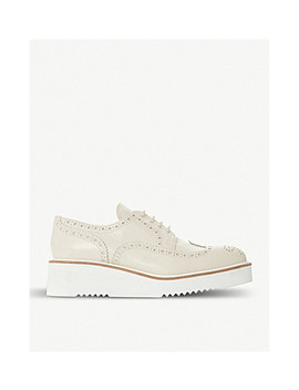 Filomena Platform Leather Brogues by Dune Black