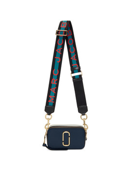 Blue Small Snapshot Bag by Marc Jacobs