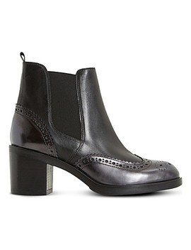 Parke Leather Heeled Chelsea Boots by Dune Black