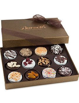 Barnett's Chocolate Cookies Gift Basket, Gourmet Christmas Holiday Corporate Food Gifts In Elegant Box, Thanksgiving, Halloween, Birthday Or Get... by Barnett's Fine Biscotti