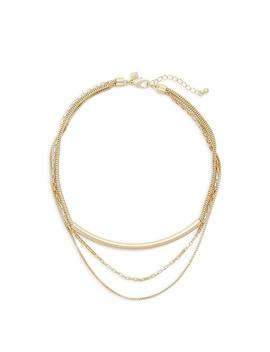 Three Row Bar Necklace by Rebecca Minkoff