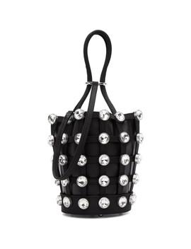 Black Mini Roxy Cage Glass Bucket Bag by Alexander Wang