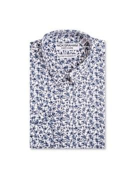 Men's Nick Graham Everywhere Modern Fit Stretch Dress Shirt by Kohl's