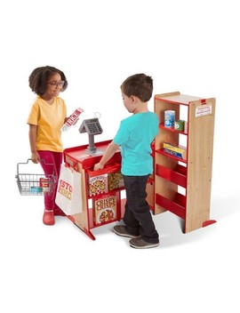 Melissa & Doug Deluxe One Stop Shop Play Store Set   63pc by Melissa & Doug