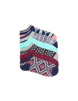 Geometric Women's No Show Socks   6 Pack by Mix No. 6