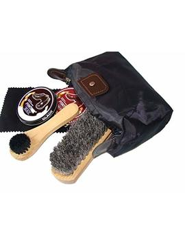 Shoe Shine Kit With Professional Horse Hair Buffing Brush by Jay Jay Collection
