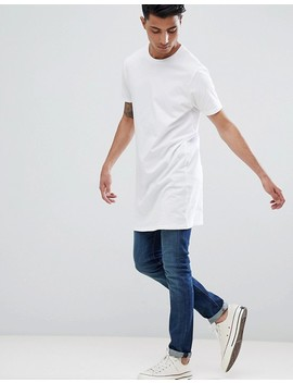 Asos Design Super Longline T Shirt In White by Asos Design