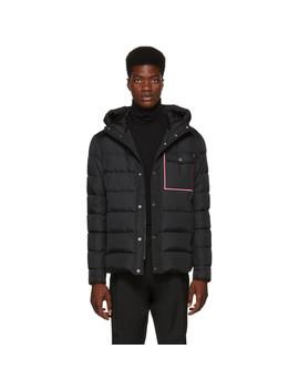 Black Down Prevot Jacket by Moncler