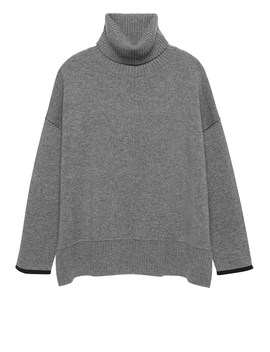 Cashmere Oversized Turtleneck Sweater by Banana Repbulic