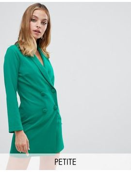 John Zack Petite Tuxedo Mini Dress In Green by John Zack Petite