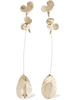 Valentino Garavani Gold Tone Clip Earrings by Valentino