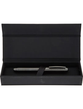 Gunmetal Sequence Fountain Pen by Hugo Boss