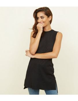 Black Crinkle Crepe Tunic by New Look