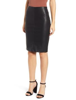 Faux Leather Pencil Skirt by Blanknyc