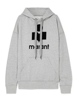 Mansel Flocked Cotton Blend Jersey Hoodie by Isabel Marant Étoile