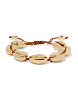 Large Puka Gold Plated Bracelet by Tohum