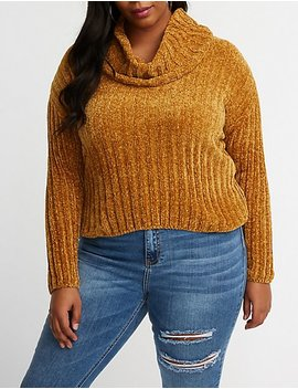 Plus Size Cowl Neck Sweater by Charlotte Russe