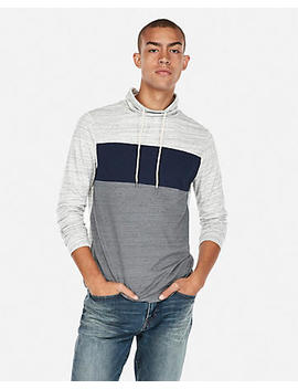 Pieced Funnel Neck Tee by Express