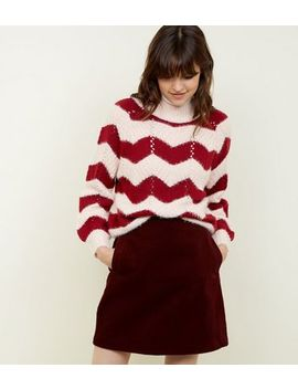 Tall Burgundy Corduroy Mini Skirt by New Look