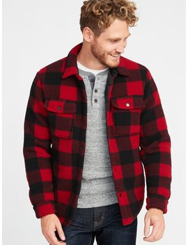 Sherpa Shirt Jacket For Men by Old Navy