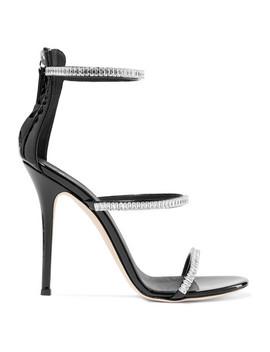 Harmony Crystal Embellished Patent Leather Sandals by Giuseppe Zanotti