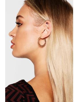 Chain Link Hoop Earrings by Boohoo