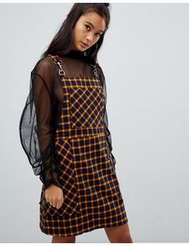 The Ragged Priest Mini Dress In Check by The Ragged Priest