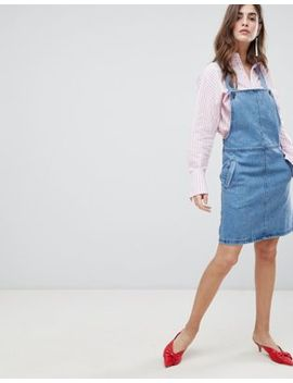 Gestuz Margaret Denim Pinafore Dress by Gestuz