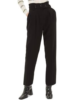 Ayla Belted Eyelet Trouser by Topshop