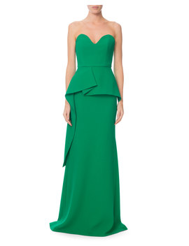 Bond Strapless Sweetheart Peplum Gown by Roland Mouret