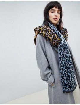 Объемный шарф с леопардовым принтом Asos Design by Asos