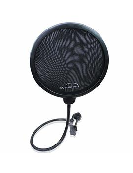 Auphonix Microphone Pop Filter (Mpf 1) 6 Inch Diameter With Double Mesh Filter Screen by Auphonix