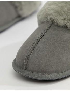 Just Sheepskin Mule Slippers by Asos Brand