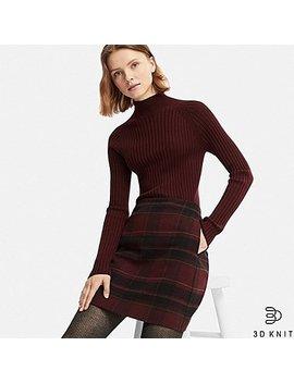 Women 3 D Extra Fine Merino Turtleneck Sweater by Uniqlo